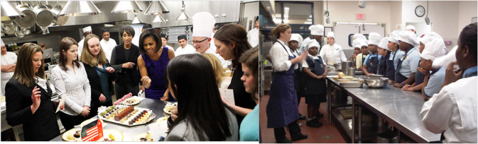 A TALE OF TWO MICHELLES: Like the culinary students who last month had an opportunity to visit the White House kitchen and meet the First Lady, the Common Threads apprentices had their own Commander in Chef Michelle to look up to.