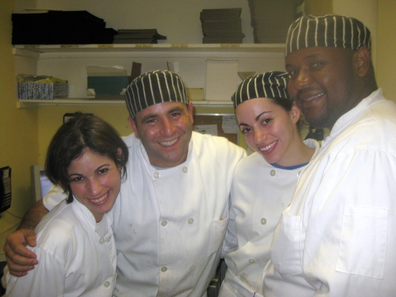 From left to right: me, Chef de Cuisine Danny, Chef Lindsay and Pastry Chef Andy, at the completion of my reality cooking experience.
